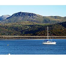 A view of Cader Idris from Barmouth, North Wales Photographic Print