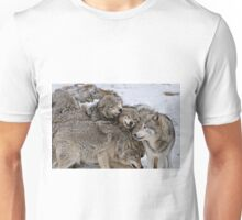 Playful Wolf Pack Unisex T-Shirt
