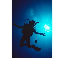 Diver Revelling in Weightless Freedom Photographic Print