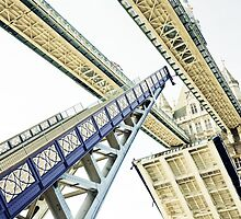 Tower Bridge 02A - Going Up by Pete Edmunds
