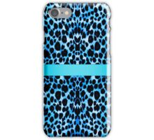 Leopard Lovers Elegant Blue Animal Print iPhone Case/Skin
