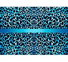 Leopard Lovers Elegant Blue Animal Print Photographic Print