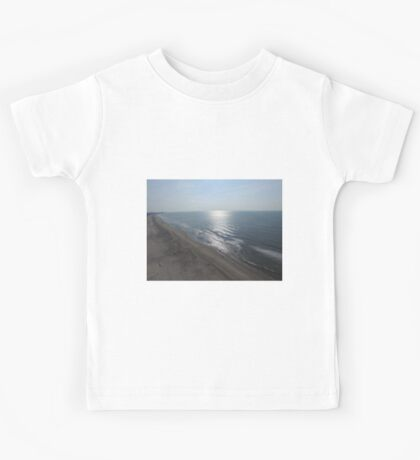 Ocean City NJ Beach From Drone Kids Tee