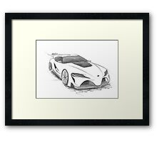 Toyota FT-1 Framed Print