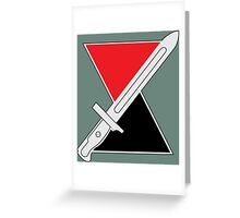 7th Infantry Division (United States) - Distinctive unit insignia Greeting Card