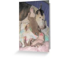 Jenova And The Puppies Greeting Card