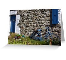 Ouessant, la bicyclette bleue. Greeting Card