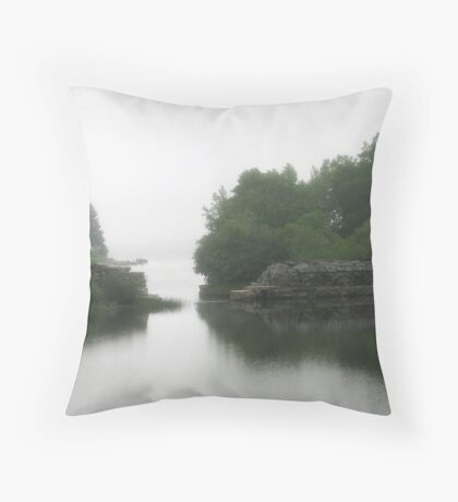 Serenity in the fog Throw Pillow