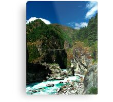 Highest suspension Bridge in Nepal Metal Print