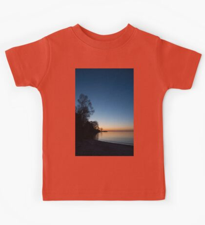 Orange Dawn Chasing the Blue Night Away Kids Tee