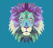 Geometric Lion by KingdomofArt