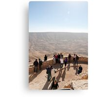Lookout over Wadi Mujib Canvas Print