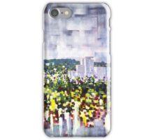 Digital horizon, city landscape iPhone Case/Skin