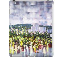 Digital horizon, city landscape iPad Case/Skin