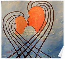 On the wave of a kiss. Poster