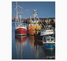 Fishing boats in harbour Kids Clothes