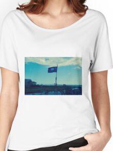 South Carolina Flag on USS Laffey Women's Relaxed Fit T-Shirt