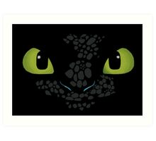 Toothless How to train your dragon Art Print