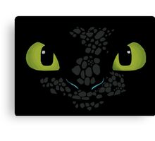 Toothless How to train your dragon Canvas Print