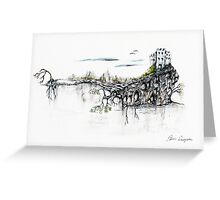 Castle Get Away Greeting Card