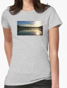 Sunrise at the Mote Womens Fitted T-Shirt