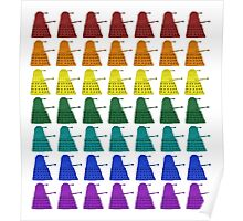 Rainbow march of Daleks Poster