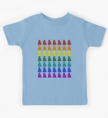 Rainbow march of Daleks Kids Tee
