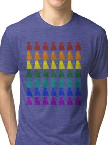 Rainbow march of Daleks Tri-blend T-Shirt