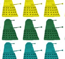 Rainbow march of Daleks Sticker
