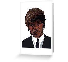 SAMUEL L. JACKSON PULP FICTION GRAPHIC TSHIRT Greeting Card