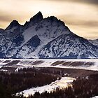 Snake River Overlook at Sunset by cavaroc