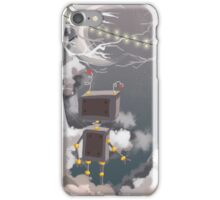 Robot in the forest iPhone Case/Skin
