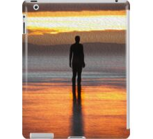 Warm Glow Sunset on Another Place Ironman of Crosby beach iPad Case/Skin