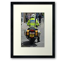 Police motorcycle Framed Print