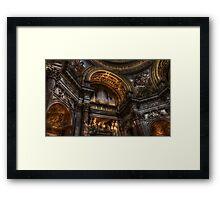 L'organo della chiesa di S. Agnese in Agone, Roma Framed Print