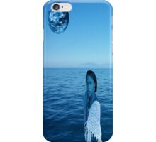 Woman in blue iPhone Case/Skin