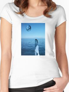 Woman in blue Women's Fitted Scoop T-Shirt