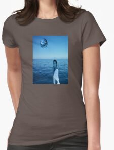Woman in blue Womens Fitted T-Shirt
