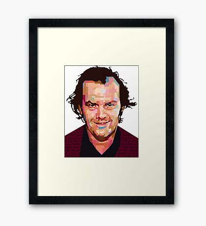 JACK NICHOLSON THE SHINING GRAPHIC ART TSHIRT Framed Print