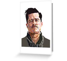 BRAD PITT ALDO RAINE INGLORIOUS BASTERDS GRAPHIC ART Greeting Card
