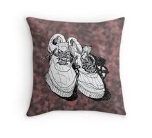 my old running shoes...  Throw Pillow