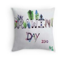 Drawing Day  2010 - In The Garden Throw Pillow