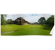 Mayan Pyramid at Comalcalco Poster