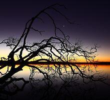 Sunset Over Lake Weyba - Sunshine Coast - Queensland - Australia by AMP  Al Melville Photography
