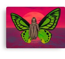 SUNSET BUTTERFLY Canvas Print