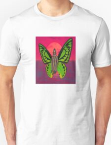 SUNSET BUTTERFLY Unisex T-Shirt