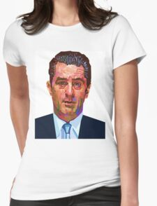 ROBERT DENIRO GOODFELLAS GRAPHIC ART PORTRAIT Womens Fitted T-Shirt