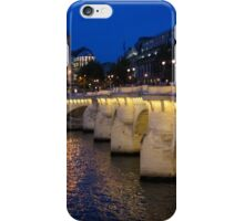Paris Blue Hour - Pont Neuf Bridge and La Samaritaine iPhone Case/Skin