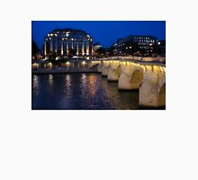Paris Blue Hour - Pont Neuf Bridge and La Samaritaine Unisex T-Shirt