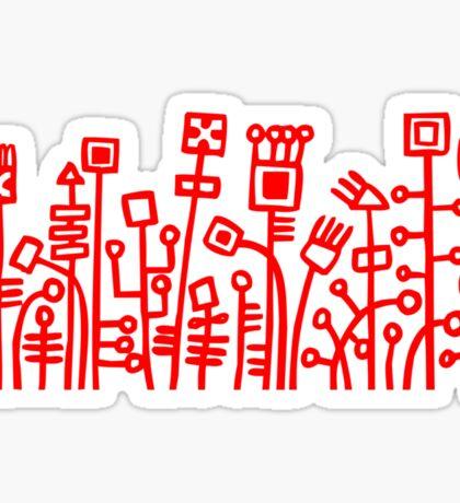Cyber Garden - Red Sticker